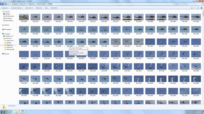 open show folder